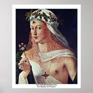 Courtesan (porträtt av Lucrezia Borgia?) Poster