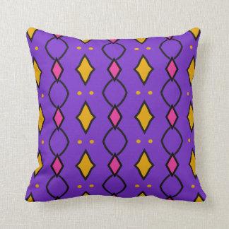 Coussin décoratif carré, coloré, violet à losanges kudde