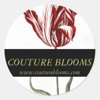 Couture för elegant för runt klistermärke