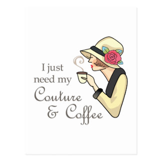 Couture & kaffe vykort