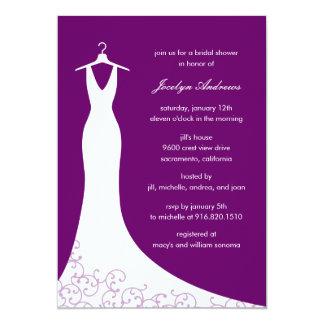 Couturekappainbjudningskort för möhippan (lilor) 12,7 x 17,8 cm inbjudningskort