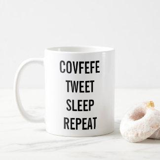 COVFEFE TWEET, SÖMN, rolig kaffemugg för