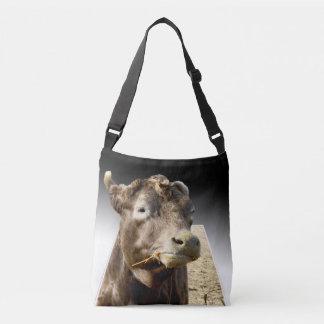 Cow_Chewing _Popout_Art_Unisex_Cross_Body_Bag Axelväska