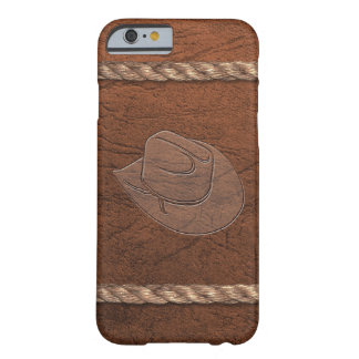 Cowboy/hatt, läder & rep för Cowgirl western Barely There iPhone 6 Skal
