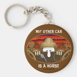 Cowboy Kilroy Keychain Rund Nyckelring
