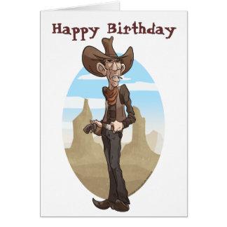Cowboy - kyla hälsningskort