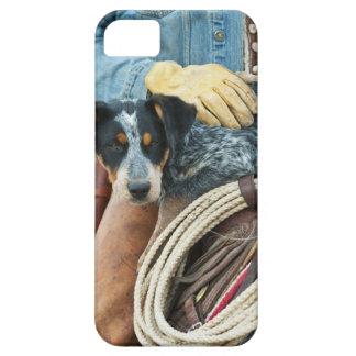 Cowboy och hund på häst iPhone 5 cover