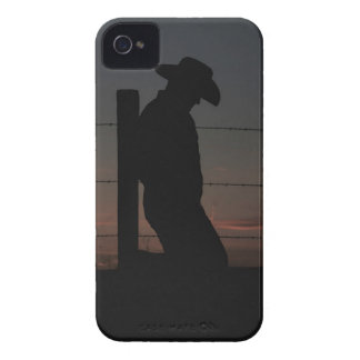 Cowboy på solnedgången iPhone 4 cover