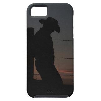 Cowboy på solnedgången iPhone 5 Case-Mate fodraler