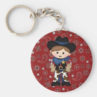 Cowboy Rund Nyckelring