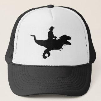 Cowboy som rider den T-Rex truckerkepsen Keps