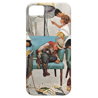 Cowboy sovande i skönhetsalong barely there iPhone 5 fodral