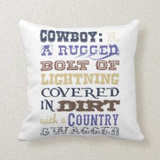 Cowboydefinitiondekorativ kudde