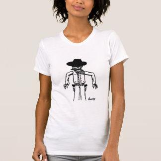 Cowboyen skissar kvinna avslappnad kammar hem tröja