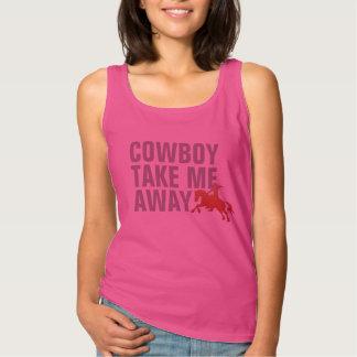 cowboyen tar mig away t-skjorta design linne