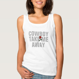 cowboyen tar mig den away valentin dagt-skjorta linne