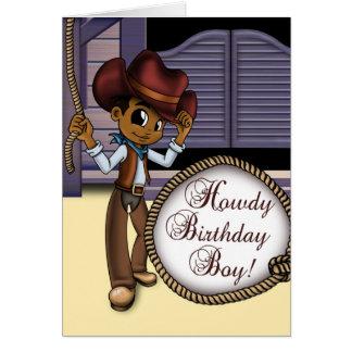 """""""CowboyFödelsedagskort """", Hälsningskort"""