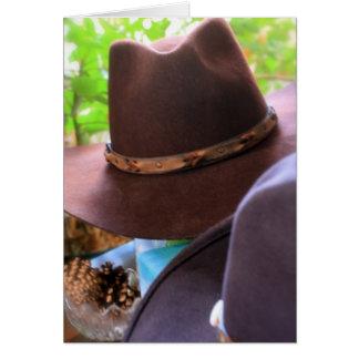 Cowboyhattar Hälsningskort