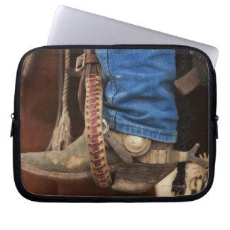 Cowboykängan med sporrar laptop sleeve