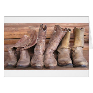 Cowboykängor Hälsningskort