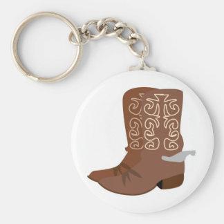 Cowboykängor med sporrar rund nyckelring
