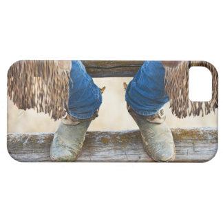 Cowboykängor på staket iPhone 5 fodral