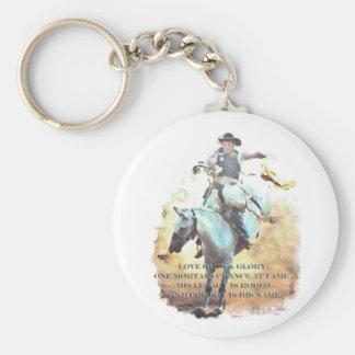cowboylegat rund nyckelring