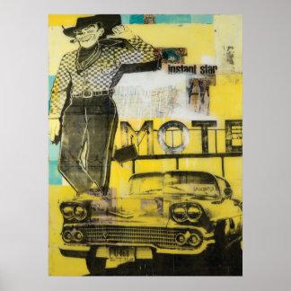 Cowboymotelltryck Poster