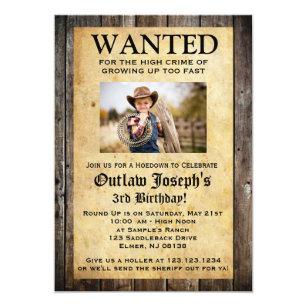 Cowboypartyinbjudan | ÖNSKADE INBJUDAN