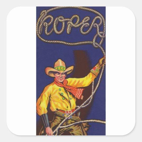 CowboyRoper klistermärkear Fyrkantigt Klistermärke