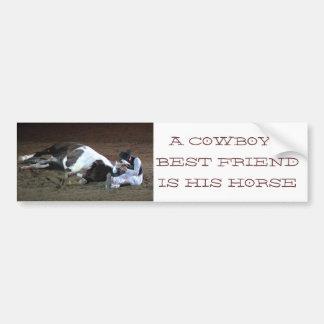 Cowboys bästa vän - bildekal