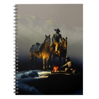 Cowboys och hästanteckningsbok anteckningsbok med spiral