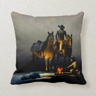 Cowboys och hästdekorativ kudde