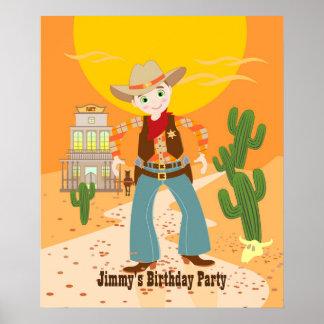 Cowboyungefödelsedagsfest Poster