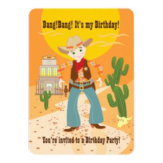 Cowboyungefödelsedagsfest 11,4 X 15,9 Cm Inbjudningskort