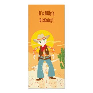 Cowboyungefödelsedagsfest 10,2 X 23,5 Cm Inbjudningskort