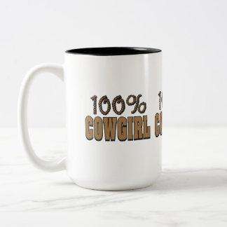 Cowgirl 100% Två-Tonad mugg