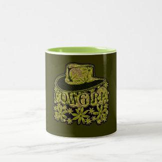 Cowgirl! Grönt Två-Tonad Mugg