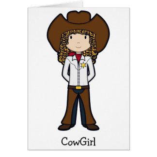 CowGirl Hälsningskort