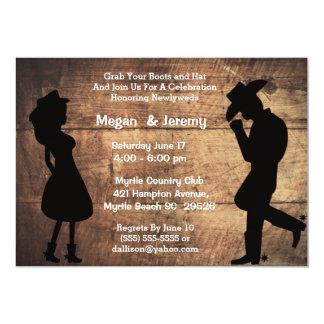 Cowgirl- och Cowboymottagandeinbjudan 12,7 X 17,8 Cm Inbjudningskort