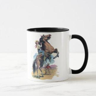 Cowgirl på häst mugg