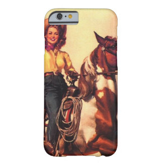 Cowgirl på henne häst barely there iPhone 6 fodral