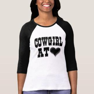 Cowgirl på hjärta t shirts