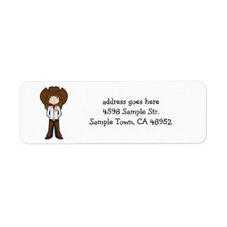 CowGirl Returadress Etikett