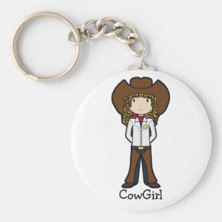 CowGirl Rund Nyckelring