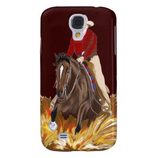 Cowgirl som tyglar hästen 3G/3GS Galaxy S4 Fodral