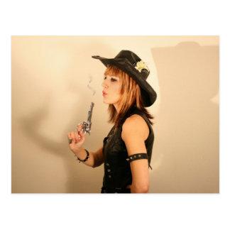 Cowgirl Vykort