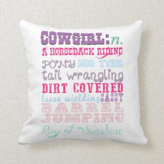 Cowgirldekorativ kudde