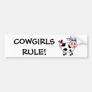 Cowgirls härskar bildekalet bildekal