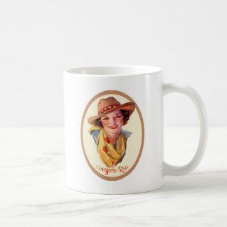 Cowgirls härskar kaffekoppen kaffemugg
